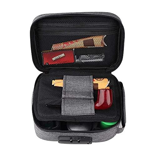 Ysislybin Sacchetto antiodore con lucchetto a combinazione, borsa antiodore, borsa antiodore, con fodera interna al carbone attivo che assorbe gli odori