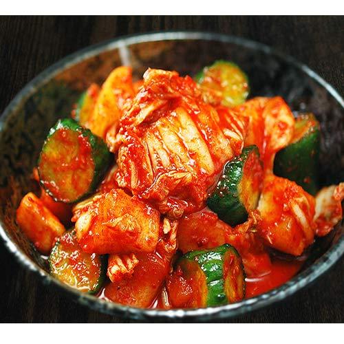 白菜・大根・胡瓜のミックスキムチ500g 3種類を一緒に楽しむ本格手作りキムチ【冷蔵限定】