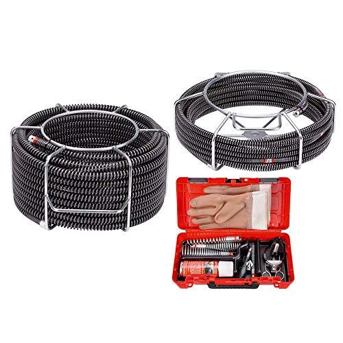 ROTHENBERGER SMK-Spiralen und Werkzeug zur Rohrreinigung: 2x Rohrreinigungsspirale für Rohrreinigungsmaschine, 16-22mm