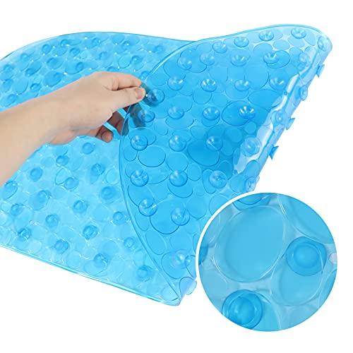 PNSSL Duschmatte 38 X 70cm, Duschmatte rutschfest mit Saugnapf, BPA frei Antirutschmatte badewanne, Badematte rutschfest Maschinenwaschbar, Duscheinlage rutschfest für Kinder, Baby (Blau)