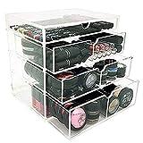 Vencer Acrylic Makeup Organizer Holder Box with 4 Removable Drawers VMO-016