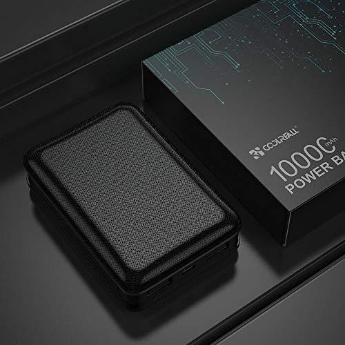 Coolreall Powerbank 10000 mAh Compatibile con Vari telefoni cellulari, se Applicabile. Nuovo Carica Compatto Batterie Portatile 2 USB Uscite,Indicatore Batteria LED,Batteria Esterna (Nero)