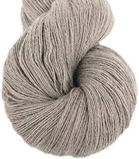 Lotus Yarns Swan Lake Lace Weight 50% Cashmere 40% Fine Wool 10% Angora Blended Hand Knitting Yarns for Comfortable Baby and Adult Clothing for Fashion Garment Baby Clothe (03-Sand)