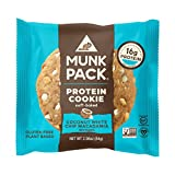Munk Pack Coconut White Chip Macadamia Protein Cookie with 16 Grams of Protein | Soft Baked | Vegan | Gluten, Dairy and Soy Free | 6 Pack
