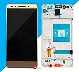 Premium  kompl. Pantalla táctil LCD de cristal digitalizador con marco para Huawei Honor 7(Oro)–Complete LCD Display Assembly with Frame–Incluye Nano–Set de 3en 1de limpieza de–oro–Nuevo