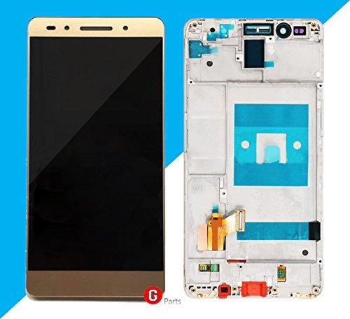 Premium Compleet LCD display touchscreen glas digitizer met frame voor Huawei Honor 7 (GOLD) - Compleet LCD-display Assembly met frame - incl. NANO Profi 3-in-1 reinigingsset - GOUD - NIEUW