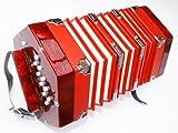 Concertina cherrystone 4260180881677–2X 10Bottoni Rosso