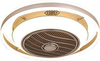 Luz Del Ventilador De Techo Ventilador De Techo Con Lámpara Creativo Ventilador Invisible LED Lámpara De Techo Control Remoto Regulable Ultra Silencioso Lata Tiempo Ventilador Lámpara,60cm