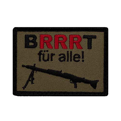 Café Viereck ® Bundeswehr Fun Patch Gestickt mit Klett – 7 cm x 5 cm