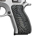 Cool Hand G10 Grips for CZ 75/85 Compact, CZ P-01, P100, C100, T100, PCR, CZ 75 D, Gun Grips Screws Included, Sunburst Texture (Gun Metal)