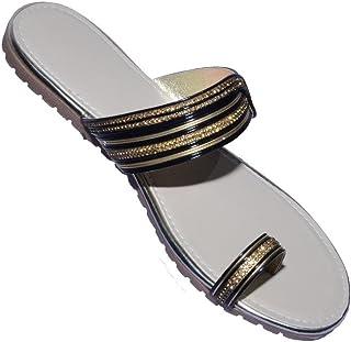 Raman Store Women Silver/Gold Rexon Sandle-7