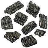 Naturosphère - Minéraux et fossiles C25 - Pierres brutes Tourmaline Noire - 4 à 7 cm - 200 grammes.