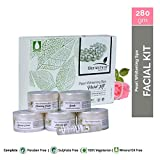 Bionechral Pearl Whitening Spa Facial Kit 280g (6 Step Treatment) - No Mineral Oils, Parabens and Sulphates