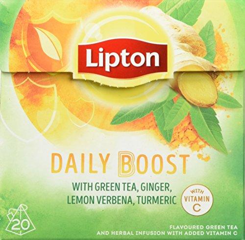 Lipton Grüner Tee Daily Boost Pyramidenbeutel, 20 Stück