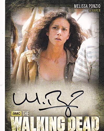 Walking dead cryptozoic 2014 Melissa Autograph service At the price as Karen C Ponzio