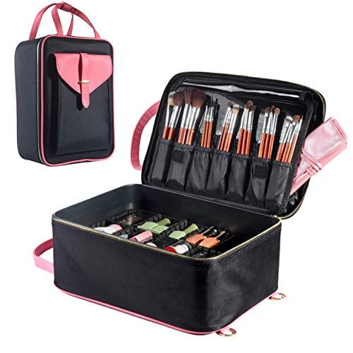 Reise-Make-up-Tasche Süß Kosmetik-Organizer-Fall mit Bürstenhalter tragbar Kulturbeutel mit...