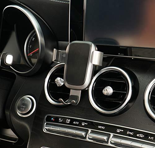 Beerte - Soporte de Cargador de Coche inalámbrico para Mercedes Clase C 2015-2018, Soporte para Rejilla de ventilación de Coche, Apto para teléfono móvil con Cubierta de Clip de ventilación
