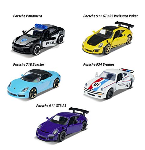 Majorette 1:64 Porsche Edition 5-Pack Die-cast Cars, Toys for Kids and Adults (212053171)