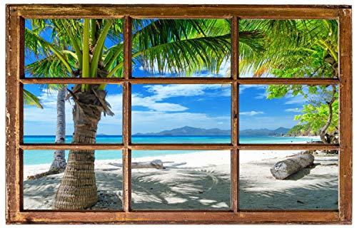 Palmen Meer Strand Beach Karibik Wandtattoo Wandsticker Wandaufkleber H0316 Größe 60 cm x 90 cm