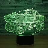 Vehículo Todoterreno Lámpara 3D 7 Cambio De Color Luz Nocturna Visual Suv Coche Luz 3D Lámpara De Mesa Led Interruptor Táctil Luz De Escritorio Fiesta