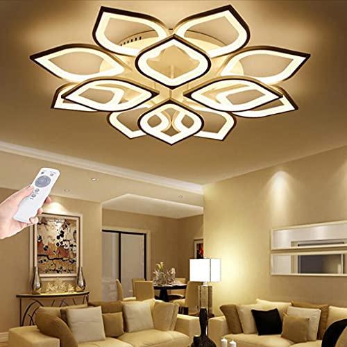 Luz de techo Lámpara de techo LED para sala estar Regulable moderna control remoto Lámpara dormitorio 110W Diseño floral creativo comedor Lámpara cocina oficina Pasillo Iluminación interior