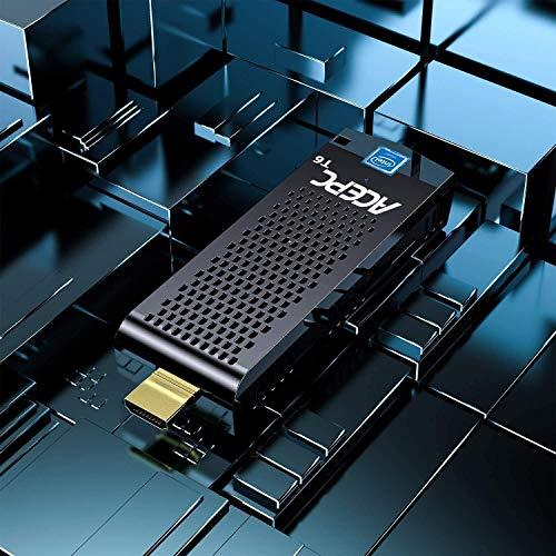 Mini PC Stick Windows 10 Pro (64-Bit) 4 GB RAM / 64 GB eMMC Intel Atom Z8350 Mini Stick Computer, Unterstützung von 4K HD, Dualband-WLAN, USB 3.0, Bluetooth 4.2