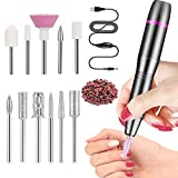 FOLAI Portable Electric Nail Drill, USB Manicure Pen Sander Polisher, Professional Compact...