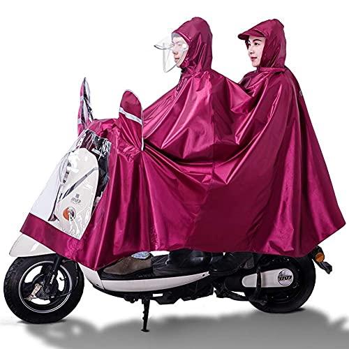 Cubierta universal para sombrilla eléctrica para motocicleta, poncho de lluvia para scooter doble, para adultos, protección completa, doble sombrero, impermeable, reutilizable, para bicicletas, bici