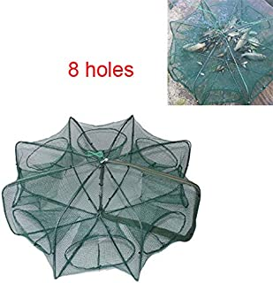 LikeFish Portable Folded Fishing Net Collapsible Net Trap Cast Dip Cage Automatic for Fish Shrimp Minnow Crayfish Crab Baits