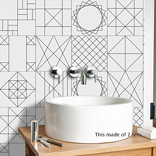 Pegatinas de Azulejos a Prueba de Agua Norte de Europa Moderno Simple Simple Herringbone Estilo Tile Paste Dormitorio Cocina Sala de Estar Papel Tapiz (Color : TS062, Size : 10cmx10cm)