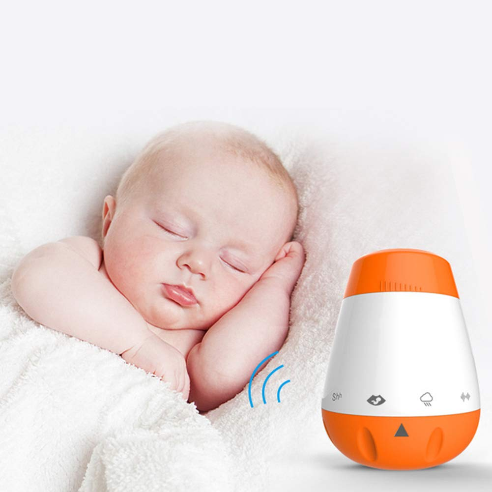 Keyzone Rechargeable Baby Sleep Soother, Portable White Noise Sound Machine for Sleeping, Sleep Therapy for Home, Office, Baby, Travel, 6 Relaxing & Soothing Nature Sounds