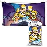 Beach Towel,Simpsons Cartoon Anime - Toalla De Playa Unisex De Secado Rápido, Toallas De Playa Premium para Mujeres para Deportes Atléticos,70x140cm