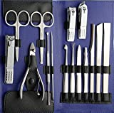 Beauté Secrets Stainless Steel Nail Clipper Set Nail Tools Manicure & Pedicure Set of 15 Pcs Travel...