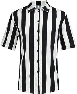 b65b72f20b XuanhaFU Polo para Hombre de Manga Corta Casual Solapa Camisa de Gran  Tamaño con Estampado de
