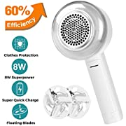 Fansrock Fabric Shaver and Lint Remover, Rechargeable Sweater Shaver Fabric Fuzz Remover with Floating Stainless-Steel Blades, Effectively Remove Fuzz Pills for Clothes, Sweater, Couch, Blanket, Socks