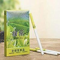 グリーンティーハーブタバコ牡丹 ジャスミン ウーロン茶 プエル茶 ローズ茶 緑茶 バラ茶 中国のハーブタバコは禁煙とニコチンフリー、 ニコチン0% 茶タバコ (5パック,緑茶)