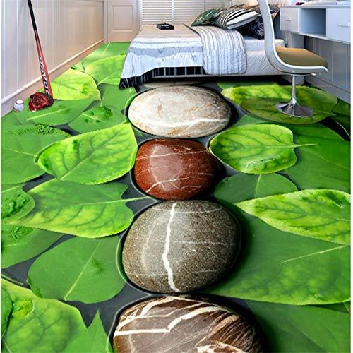 Benutzerdefinierte Ölgemälde Schlafzimmer Wohnzimmer Kopfsteinpflaster Tapete Bodenfolie 3D selbstklebende dekorative Malerei-400x280cm