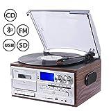 JORLAI 33/45/78 Platine Vinyle avec fonctions Bluetooth, PLL, Radio FM/AM, Lecteurs...