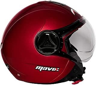MAVOX OX10 560 Open Face Helmet (Cherry Red, 560 mm)