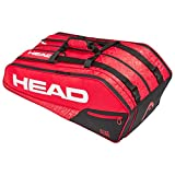Head Core 9R Supercombi Bolsa de Tenis, Adultos Unisex, Rojo/Negro