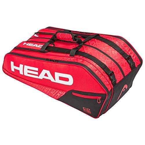 Head Core 9R Supercombi Bolsa de Tenis, Adultos Unisex, Rojo/Negro