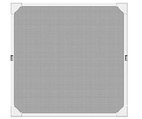 Schellenberg 50747 Mosquitera para Ventana magnetica, Montaje rápido sin taladrar, Blanca, con perfiles de plástico Muy Flexibles, 120 x 120 cm