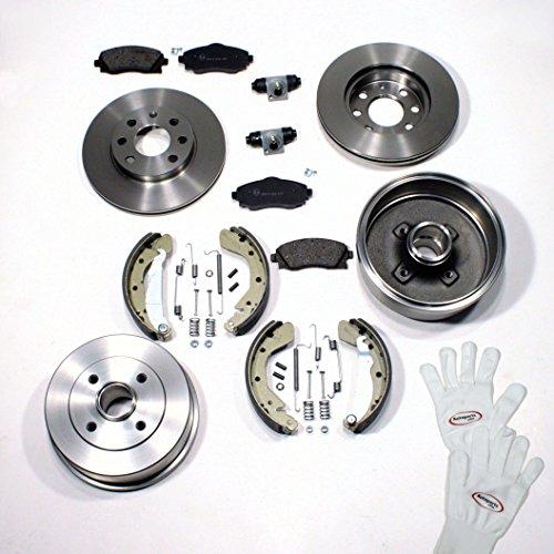 Autoparts-Online Set 60002589 Bremsen Bremstrommel Set vorne + hinten