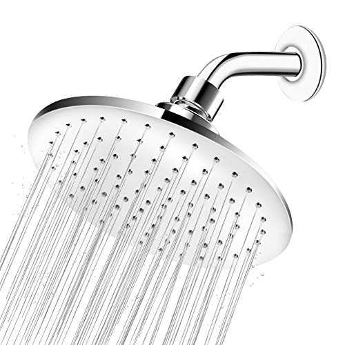 High Pressure Shower Head - 9 Inch Large Rainfall Shower Head, Easy Installation & Adjustable Waterfall Showerhead for Low Water Pressure, Best Shower Heads for Luxurious Shower Experience