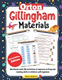 Orton Gillingham Materials. Workbook with 100 activities to improve writing and reading skills in children with dyslexia. 6-7 Years. Black & White Edition.