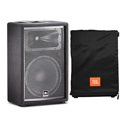 JBL JRX212 12-Inch Two-Way Sound Reinforcement Loudspeaker System Bundle with JBL Convertible Speaker Cover (2 Items)