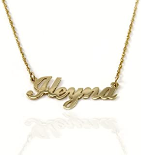 Win Jewelry 14k Gold Personalized Name Necklace (Yellow-Gold, 20 Inches)