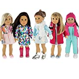 PZAS Toys Doll Clothes Fits American Girl Doll Clothes- 5 Winter Outfits fits 18' Dolls