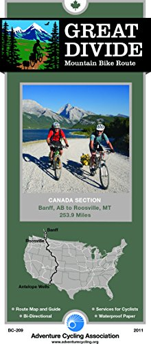 Great Divide Mountain Bike Route - Canada Map: Banff, Alberta - Roosville, Montana - 254 Miles (Green Trails Maps)