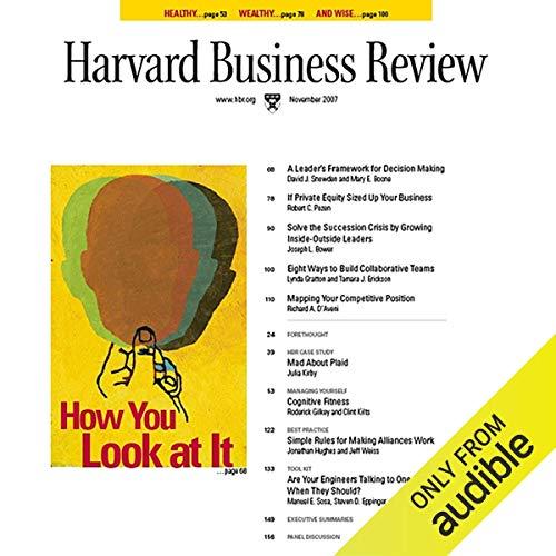 Harvard Business Review, November 2007 copertina